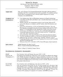 Resume Examples For Executives Amazing Sales Executive Resume Sample Download Samples For And Marketing 48