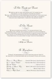 sample wedding program wording wedding programs wording resumess zigy co