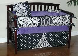 image of purple baby crib bedding