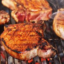 simple grilled pork chops with homemade