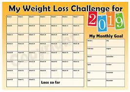 Weight Loss Challenge 2019 Chart Weight Watchers
