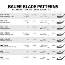 Bauer Stick Blade Chart Bauer Vapor 1x Composite Hockey Stick 2015 Youth