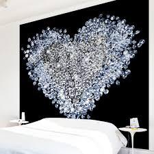 Diamantherz Schlafzimmer Tapete