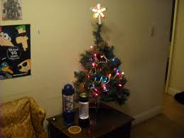 Decorations  Alternative Christmas Tree Small Apartments And Miniature Christmas Tree With Lights