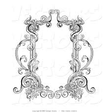 victorian frame design. Vector Of Old Black And White Victorian Blank Text Box Frame Design