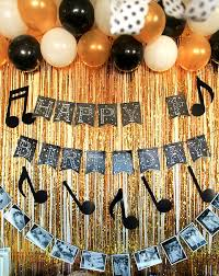 black gold and white themed birthday party