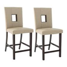 CorLiving  Bistro Counter Height Dining Chairs In Woven Cream  Fabric Set Of 2 Parisian Bar Stools A25