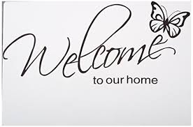 Butterfly Quotes Awesome LovingIn XQ48 Butterfly Pattern Welcome To Our Home Quotes Saying