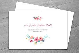 little envelope template wedding envelope template invitation templates creative market