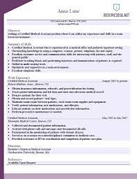 Resume For Medical Assistant Resume Medical Administrative Assistant ...