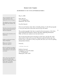 Business Letters Examples Template Resume Builder