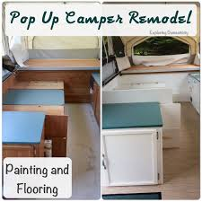 pop up camper remodel painting and flooring