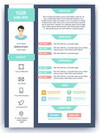 Resumes Graphic Resume Infographics Sample And Web Designer Format