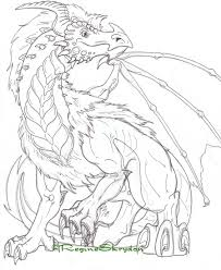 Dragon Coloring Pages Sea Serpent Toothless Picture To Color