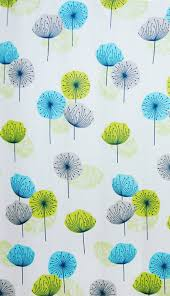 fabric bathroom shower curtain dandelion lime green blue 180 x 180 cm with hooks hallways co uk kitchen home