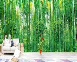 Beibehang 3d Behang Enorme Bamboe Woonkamer Tv Achtergrond Muur