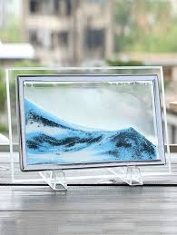 s 3d hourglass sand moving scene frame picture ornament craft