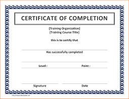 Training Certificate Template Word Under Fontanacountryinn Com