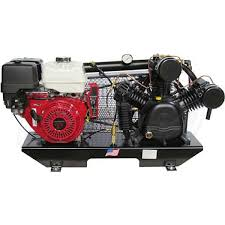gas air compressor. puma tuk-130hge 13-hp tankless two-stage truck mount air compressor w/ electric start honda engine gas