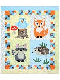 Animal Quilt Patterns Simple Animal Quilt Patterns Woodland Babies Quilt Pattern