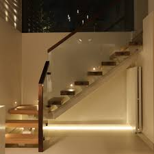 under stairs lighting. image of concept stair lighting under stairs