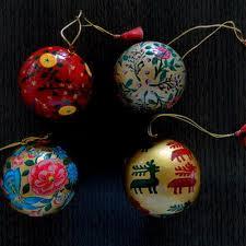 christmas ball paper mache christmas
