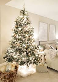 Glamorous Christmas Trees Decorated In White 30 For Your Home Images with Christmas  Trees Decorated In White