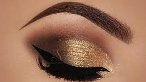 gold and brown eyeshadow makeup