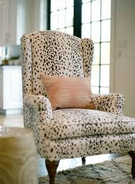 a clic wing chair goes modern with this spotty dalmatian print love the juxtaposition