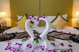wedding first night romantic bedroom
