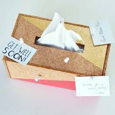 fun diy ideas for your desk cork tissue box cover cubicles ideas for