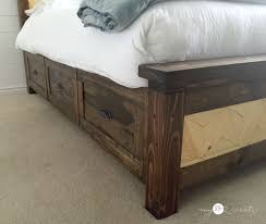 storage drawers on farmhouse bed