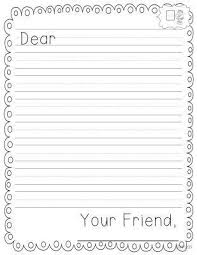 Letter Template For Kids Sample Professional Letter Formats
