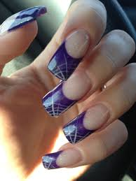 Nail Art Spider Web Design Gel Nails Purlpe Spider Web Design Gel Nails Nails