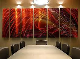 image is loading huge contemporary hand painted red metal wall art  on red and brown metal wall art with huge contemporary hand painted red metal wall art office decor tail