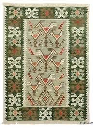 green new turkish kilim rug 4 6 x 6 54
