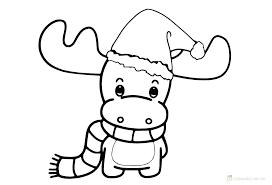 Christmas Reindeer Coloring Pages Reindeer Printable Coloring Pages