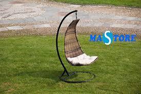 Dondolo Da Giardino Sospeso : Sedia da giardino esterno dondolo poltrona sospesa a mezzaluna