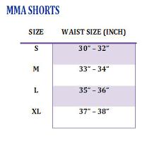 Cage Fighter Shorts Size Chart Fairtex Mma Board Shorts Fairtex Logo Ab1