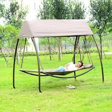 garden swings patio leisure luxury durable iron garden swing chair outdoor sleeping bed hammock with gauze and canopy metal garden swings with canopy