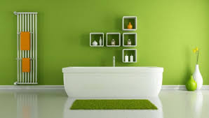 green walls color scheme. wall color shades of green bath shelves walls scheme n