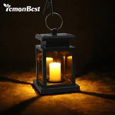 outdoor candle lighting. Delighful Lighting Waterproof Flickering Flameless Solar LED Candle Light Outdoor Hanging  Lantern Smokeless For Garden Yard Lawn Patio On Lighting N