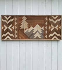 architecture reclaimed wood wall art mountains geometric in downtown west with regard to ideas 0 pendant