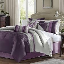 madison park amherst 7 piece comforter set purple queen free purple bedding set
