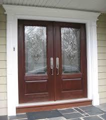 double front door. Double Front Door With Wide Trim