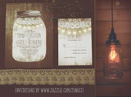 String Of Lights Rustic Wedding Invitation Mason Jar And String Lights Wedding Invitations Need