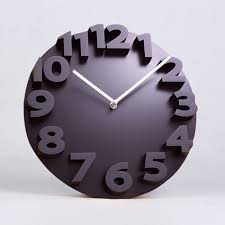 big number d wall clock digital large decorative wall clock
