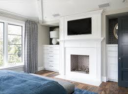 small scandinavian bedroom fireplace