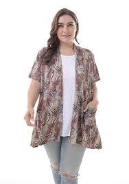Zerdocean Size Chart Zerdocean Womens Plus Size Short Sleeve Lightweight Soft Printed Drape Cardigan With Pockets
