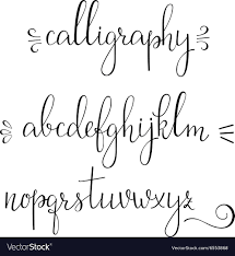 Calligraphy Cursive Font Royalty Free Vector Image